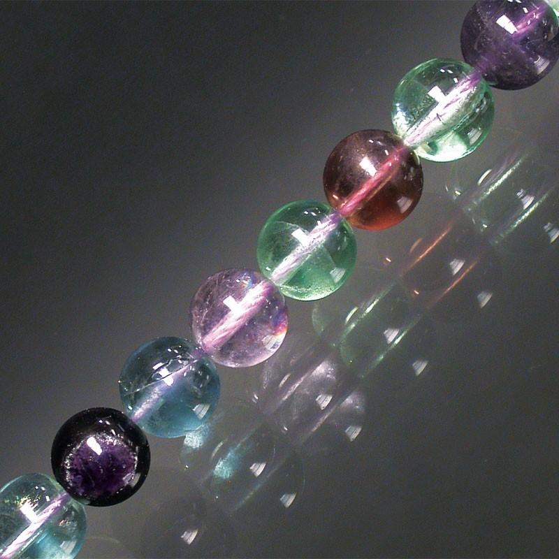 Bracelet fluorite boules 8mm