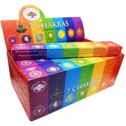 BOX  7 CHAKRAS GREEN TREE12...