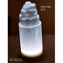 LAMPE EN SELENITE 22 CM LED