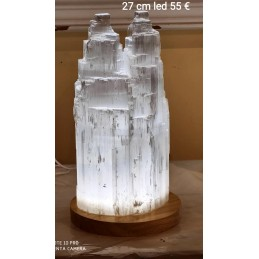 LAMPE EN SELENITE DOUBLE 22 CM LED