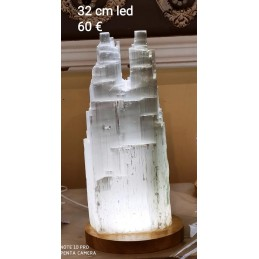 LAMPE EN SELENITE DOUBLE 32 CM LED