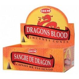 Cônes d'encens Sang du Dragon 10 CONES