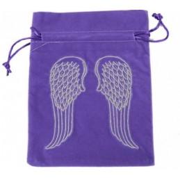 Sac Bourse pour Tarots orné d'ailes d'ange 19x13 cm