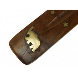 Brûle bâton d'encens avec éléphant 25 cm