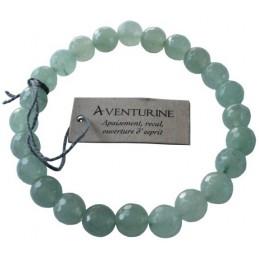 Bracelet pierres rondes facettées Aventurine
