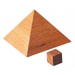 Pyramide de Kheops Plaqué Acajou GM