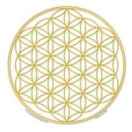 Adhésif verre/fenêtre Fleur de vie or