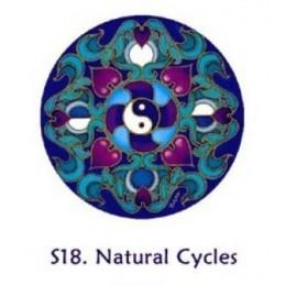 Adhésif verre/fenêtre Cycle Naturel Yin et Yang