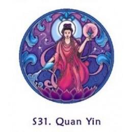 Adhésif verre/fenêtre Quan Yin