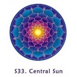 Adhésif verre/fenêtre Soleil central
