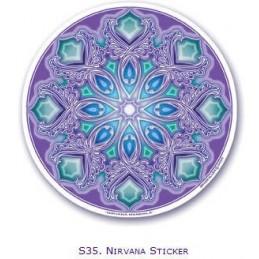 Adhésif verre/fenêtre Nirvana Mandala