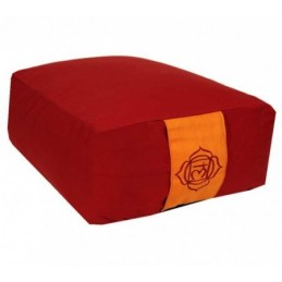 Coussin méditation rectang. 1er Chakra rouge