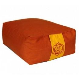 Coussin méditation rect.2ème Chakra orange