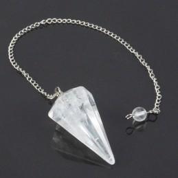 Pendule facette Cristal de roche qualite extra