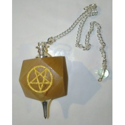 PENDULE PENTAGRAMME CALCITE ORANGE