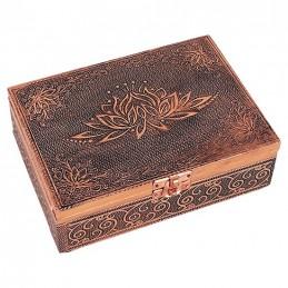 Boite de Tarots Lotus couleur cuivre