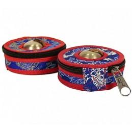 Housses pour cymbales bleu/rouge petit modèle