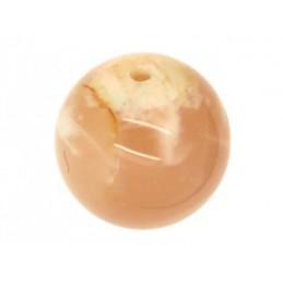 Perle Cornaline ronde. La perle de 6mm
