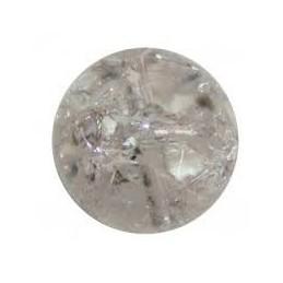 Perle Cristal de roche naturelle ronde. La perle de 8mm