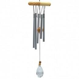 Carillon feng shui 5 tubes avec cristal modèle 2