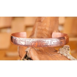 Bracelet 100 % cuivre OM-Mani-Padme-Hum