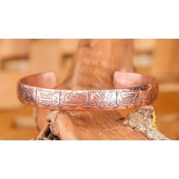 Bracelet 100 % cuivre 8 SYMBOLES BOUDDHISTES