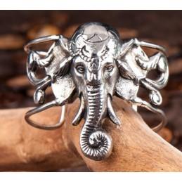Bracelet 100 % cuivre PLAQUE ARGENT GANESH