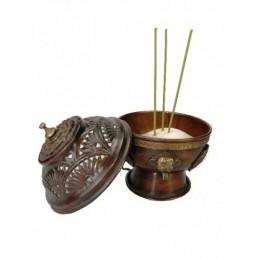 Brûle charbon à pendre en laiton style antique 12 cm