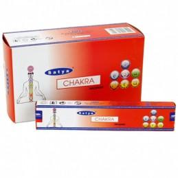 Encens Satya Nag Champa CHAKRA LOT DE 12 BOITES DE 15 GR