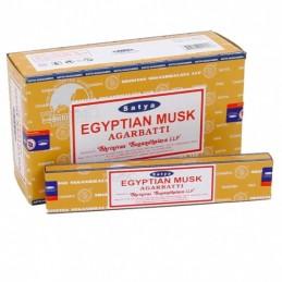 Encens Satya Nag Champa MUSC EGYPTIEN LOT DE 12 BOITES DE 15 GR
