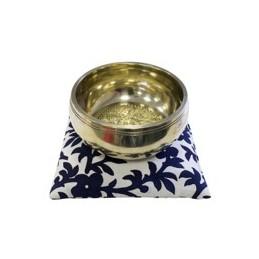 Coussin LUXE pour bol tibétain 15 cm FLEUR