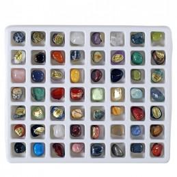 Coffret cadeau 56 différentes pierres précieuses