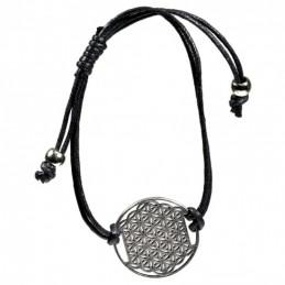 Bracelet Fleur de Vie - noir