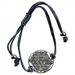 Bracelet Fleur de Vie -anthracite
