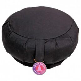 Coussin de méditation Noir plissé