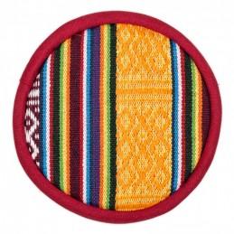 Coussin pour bol chantant tibétain design tribal