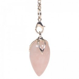 Pendule lotus QUARTZ ROSE en pointe