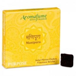 ENCENS BRIQUE AROMAFUME 3eme chakra: Manipura - Chakra du plexus solaire