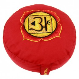 COUSSIN DE MEDITATION - 1er Chakra Muladhara - rouge