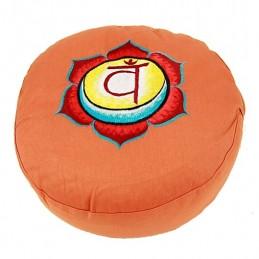 COUSSIN DE MEDITATION - 2ème Chakra Swadisthana - orange