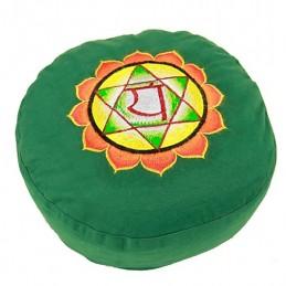 COUSSIN DE MEDITATION - 4ème Chakra Anahata - vert