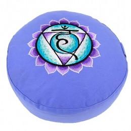 COUSSIN DE MEDITATION - 5ième Chakra Vishudda - bleu
