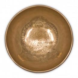Bol Chantant Tibétain GRAVE BOUDDHA MEDECINE 12 CM
