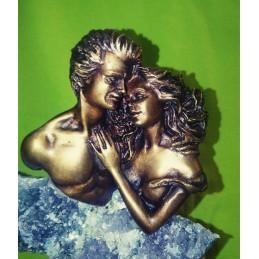 Toi et Moi sculpture Bronze et Mineraux Vidal Ebano Manuel