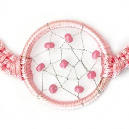 BRACELET REGLABLE ATTRAPE REVE ROSE