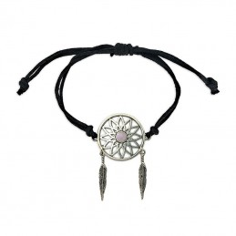 BRACELET REGLABLE ATTRAPE REVE QUARTZ ROSE