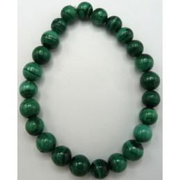 BRACELET EN  MALACHITE NATURELLE 8MM QUALITE EXTRA