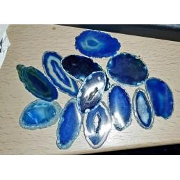 AGATE NATURELLE TEINTEE BLEUE TRANCHE FINE 3/4 CM