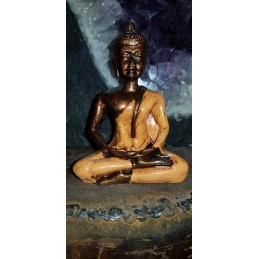 BOUDDHA TIBETAIN ORANGE 9 CM