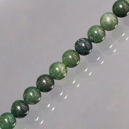 Bracelet AGATE MOUSSE boules 6mm